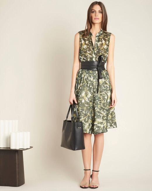 Prague khaki camouflage print dress (1) - 1-2-3