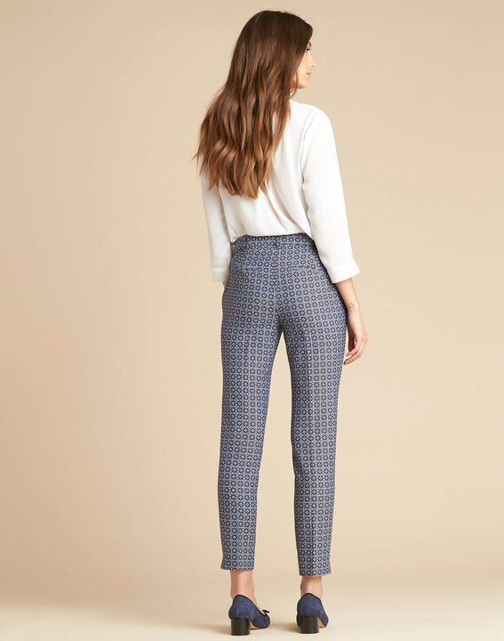 Viva 7/8 length slim-cut trousers with graphic print (4) - 1-2-3