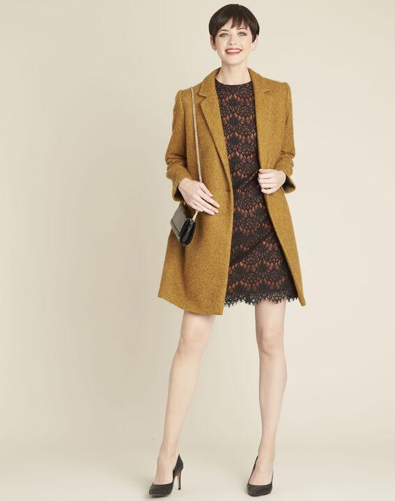 Safrangelber Mantel aus Kochwolle Erica (2) - 1-2-3