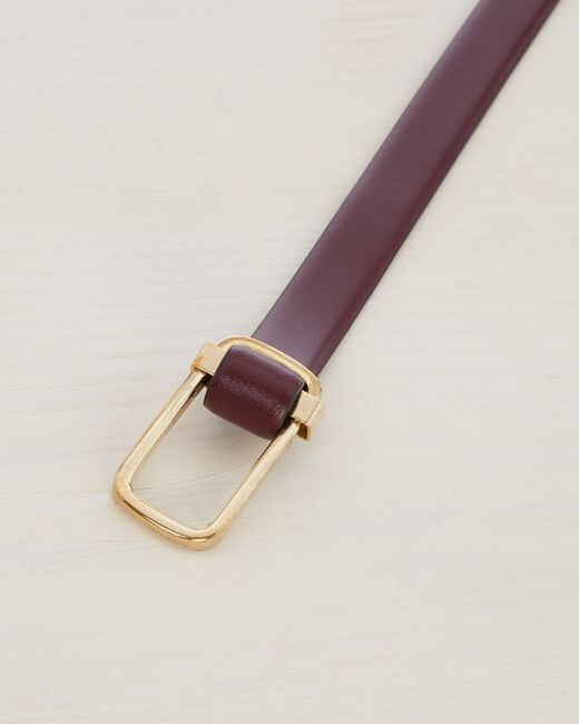 Orel thin burgundy leather belt (2) - 1-2-3