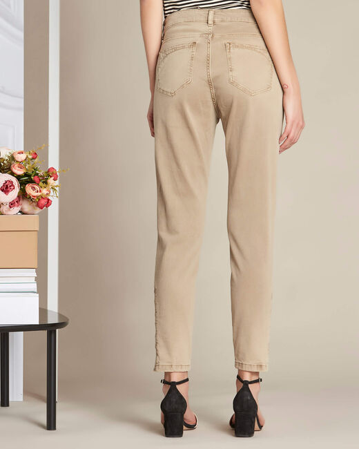 Vendôme 7/8th length slim-cut camel jeans (2) - 1-2-3