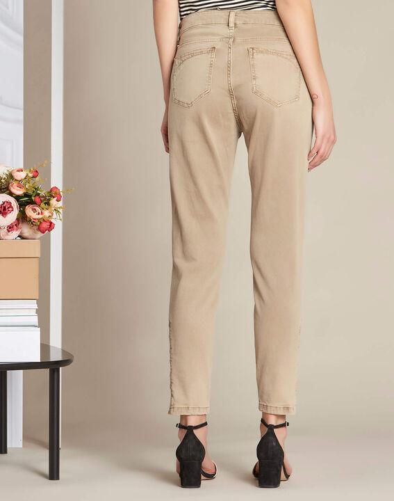 Camelfarbene 7/8-Slim-Fit-Jeans Vendome (4) - 1-2-3
