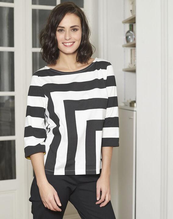 Tee-shirt noir à rayures Galinette (1) - Maison 123