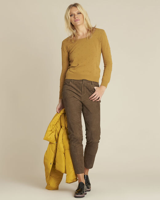 Beebop yellow crew neck wool mix pullover (1) - 1-2-3