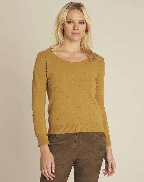 Gele trui met ronde hals van gemengd wol Beebop (1) - 37653