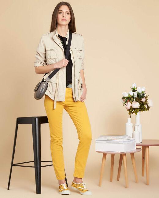 Vendôme slim-cut standard size stonewash yellow jeans (2) - 1-2-3