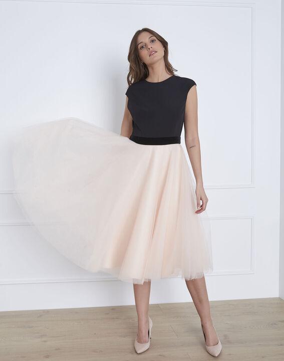 sélectionner pour le dédouanement meilleur en ligne taille 40 Robe dansante bimatière tulle Haupe