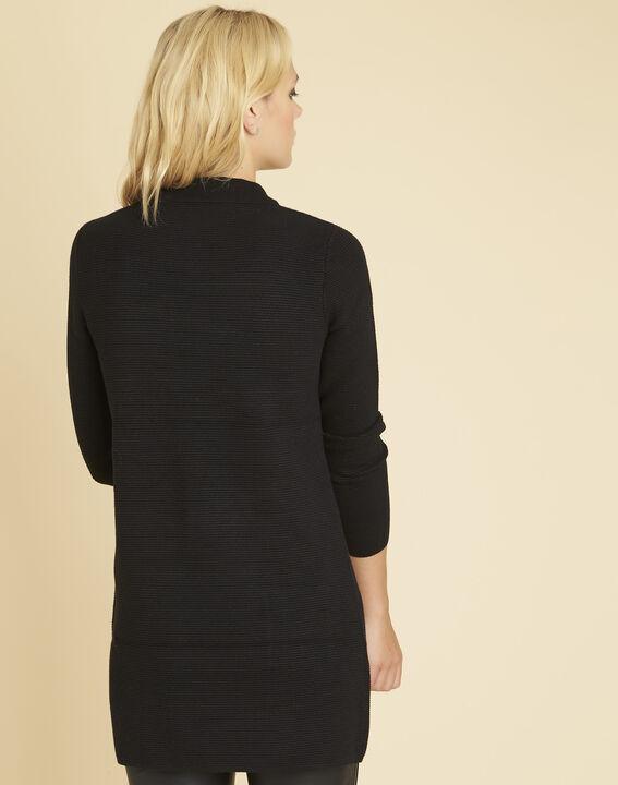 Robe pull noire col montant Belinda (4) - 1-2-3