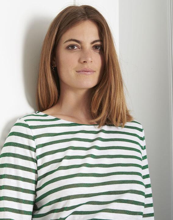 Tee-shirt vert rayures brillantes Payure (4) - Maison 123