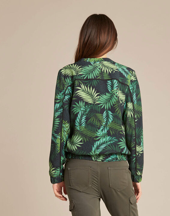 Cyrius teddy jacket with leaf print (4) - 1-2-3