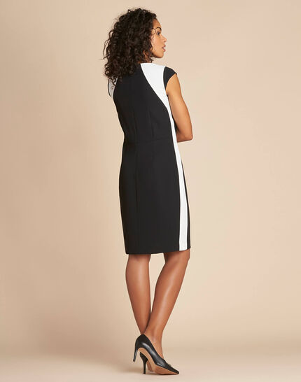 Abricot black straight-cut crepe dress (3) - 1-2-3