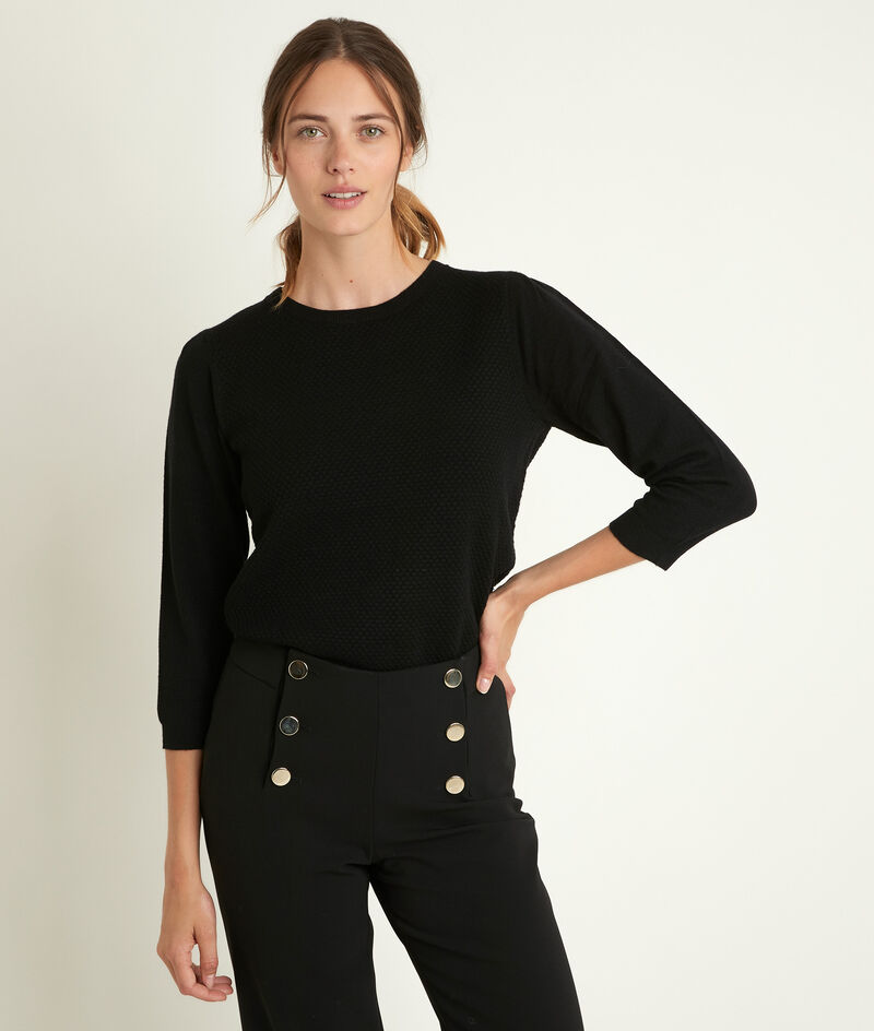 Zwarte trui met honinggraat Rimel PhotoZ | 1-2-3