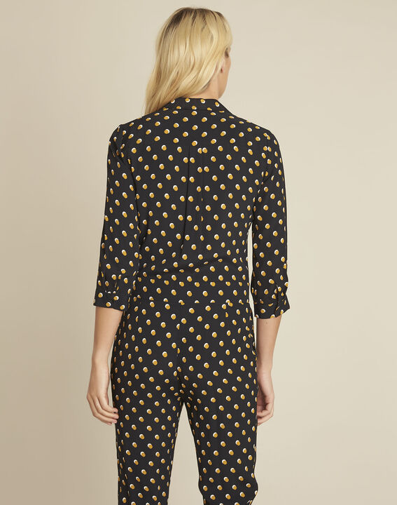 Dominique black polka dot jumpsuit (4) - 1-2-3