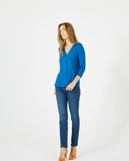 Tee-shirt bleu Barbara (2) - 1-2-3