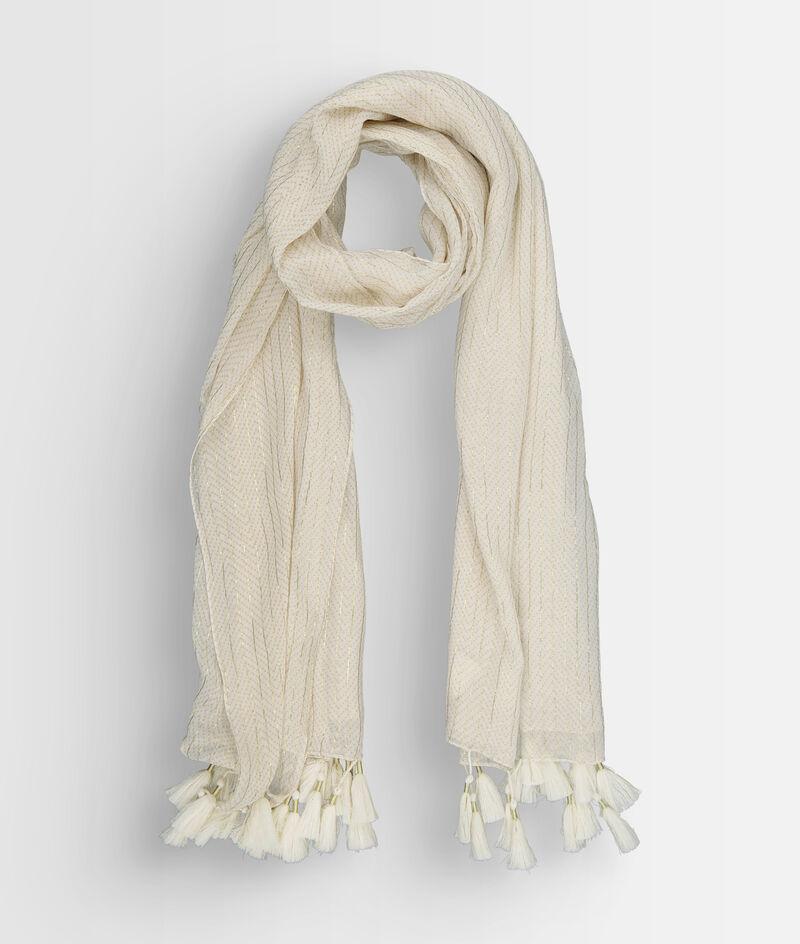 Foulard en coton et lurex jaune pâle Paola PhotoZ | 1-2-3