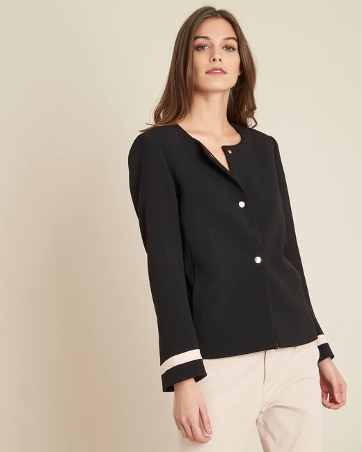 Cake two-tone cropped jacket (2) - 1-2-3