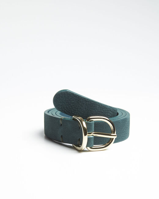 Quorentin emerald leather double buckle belt (2) - 1-2-3