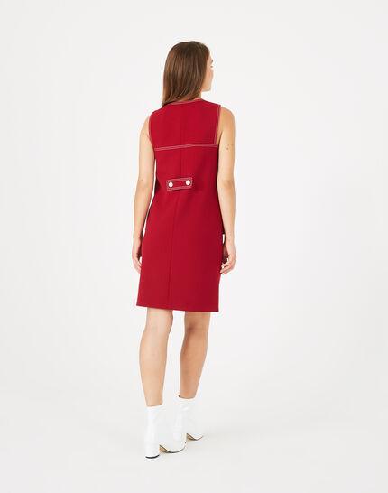 Robe compacte rouge Alix (5) - 1-2-3