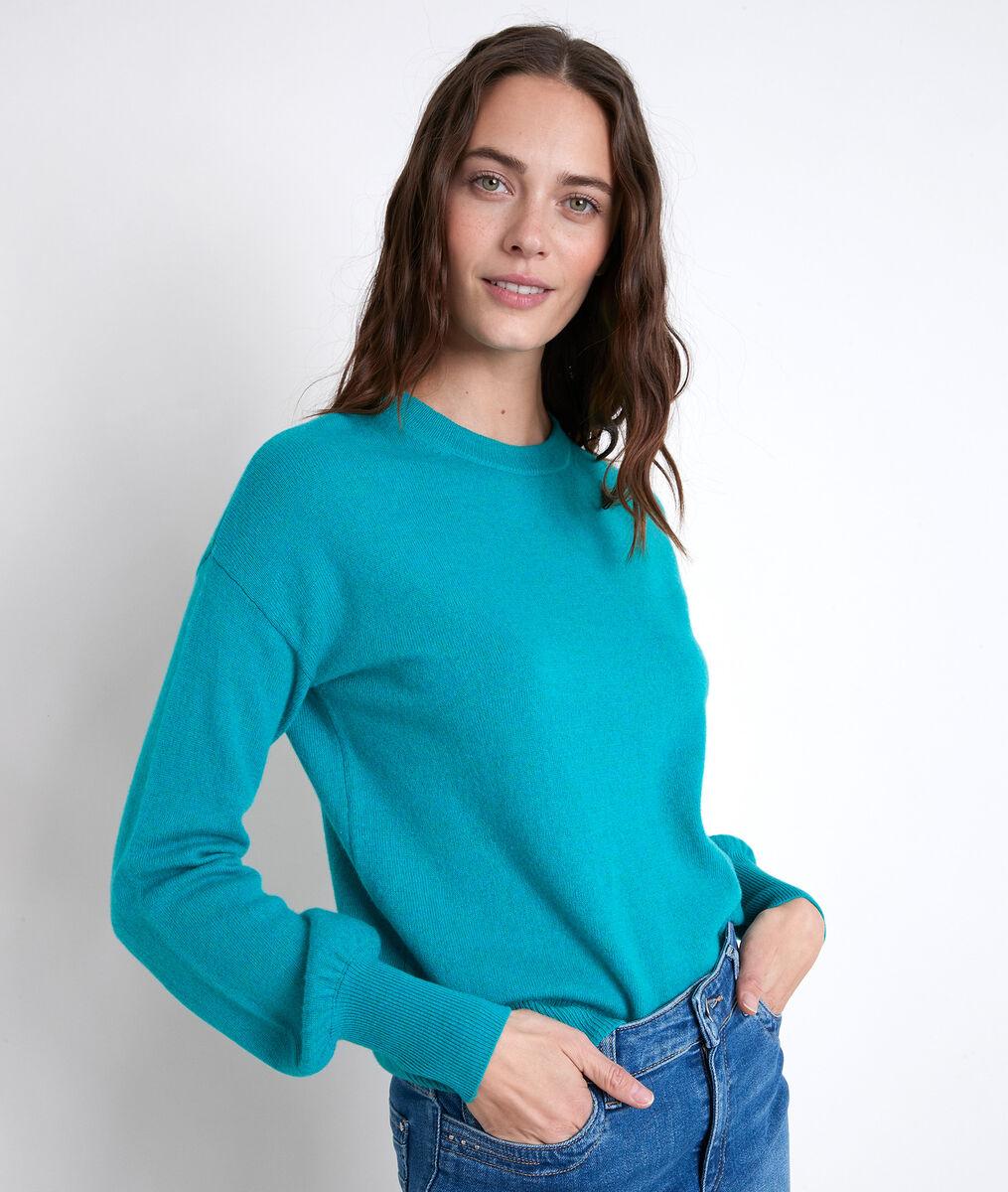 Pull en laine recyclée rouge alanis - 123 - Modalova