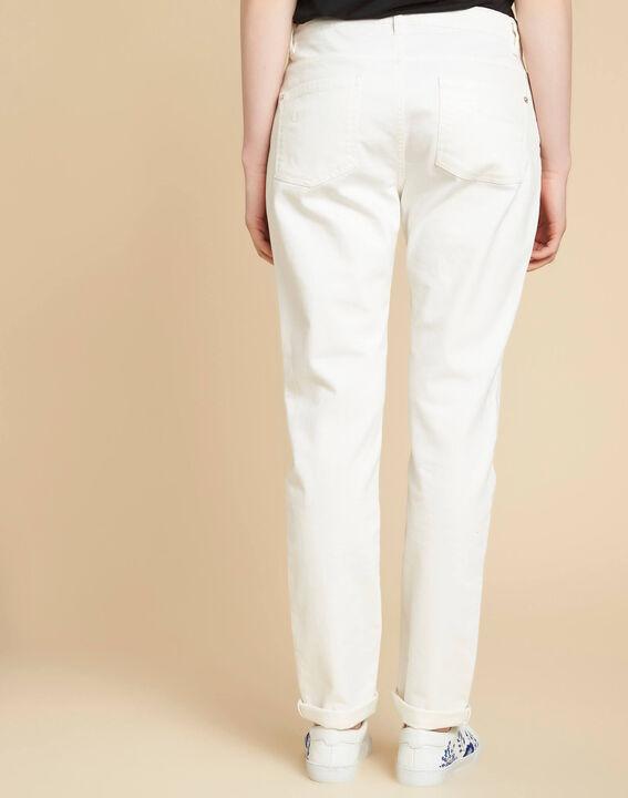 Jean blanc boyfriend taille basse Vavin (4) - 1-2-3