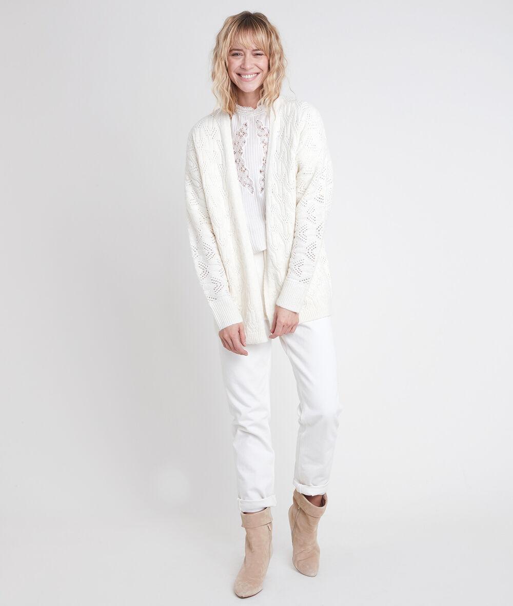 Nouvelle insieme Femmes Tricot Veste Cardigan Taille 36 Bleu 100/% lin avec paillettes