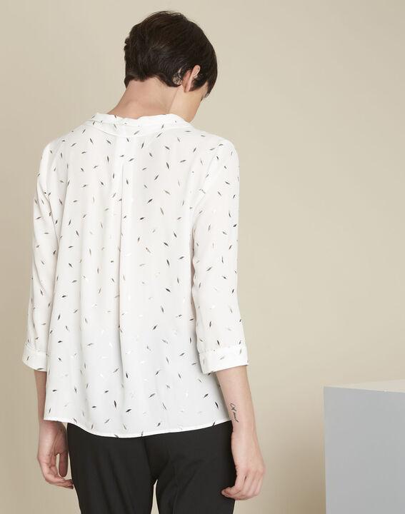 Ecru blouse met print Elea (4) - 37653