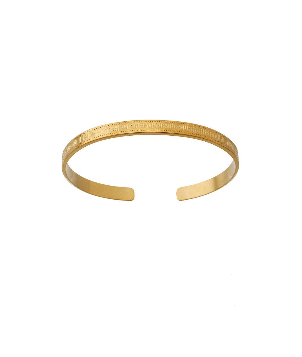 Bracelet jonc empreintes or Bijoux Léone PhotoZ | 1-2-3