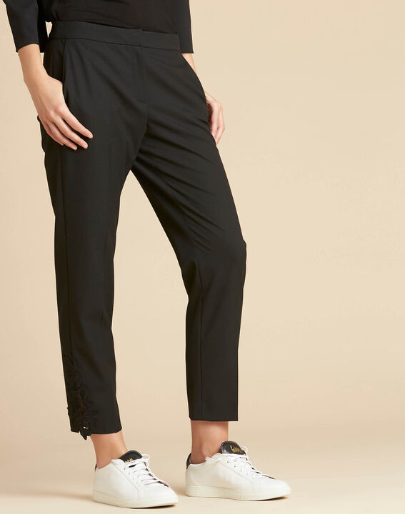 Valero tailored trousers with crease and lace detailing (3) - 1-2-3