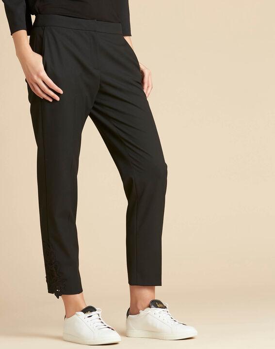 Pantalon de tailleur à pinces détails dentelle Valero (3) - 1-2-3