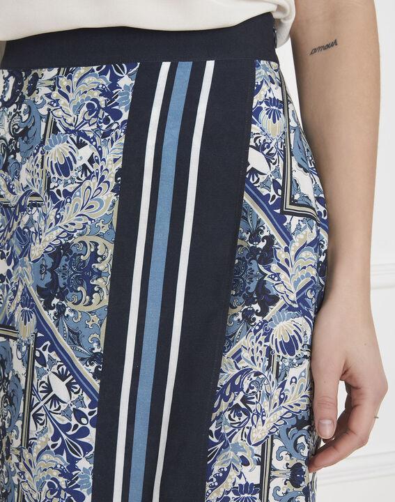 Jupe bleue imprimé foulard Stormy (3) - Maison 123