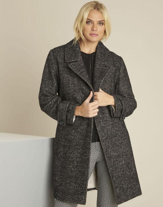 Manteau gris chiné en laine mélangée Elaine PhotoZ | 1-2-3