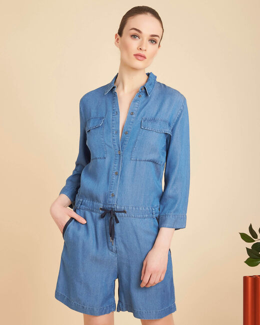 Pastille indigo cropped playsuit (2) - 1-2-3