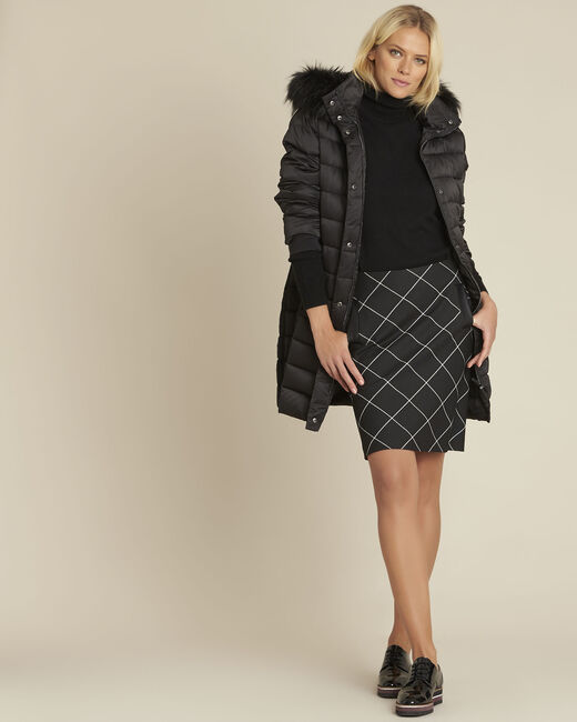 Alixia black diagonal check skirt (1) - 1-2-3