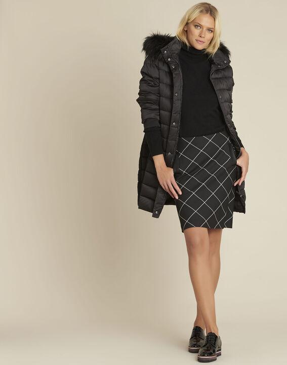 Alixia black diagonal check skirt (2) - 1-2-3