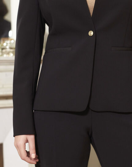 Majesté black collarless jacket (3) - 1-2-3