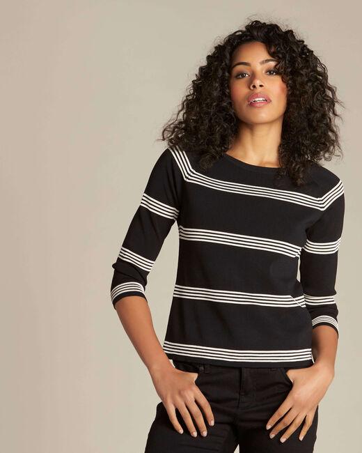 Nuage black striped sweater (2) - 1-2-3