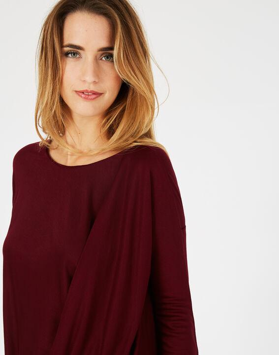 Tee-shirt carmin col rond Bree (3) - 1-2-3