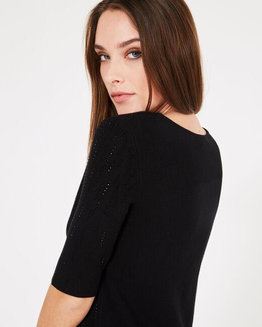 Schwarzes Kleid mit Strass Princesse (1) - 1-2-3