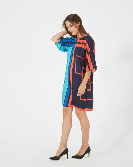Amina straight-cut graphic printed dress (2) - 1-2-3