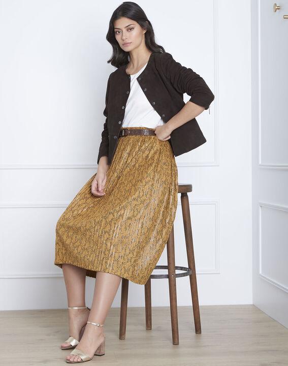 Veste marron cuir velours Thea (2) - Maison 123