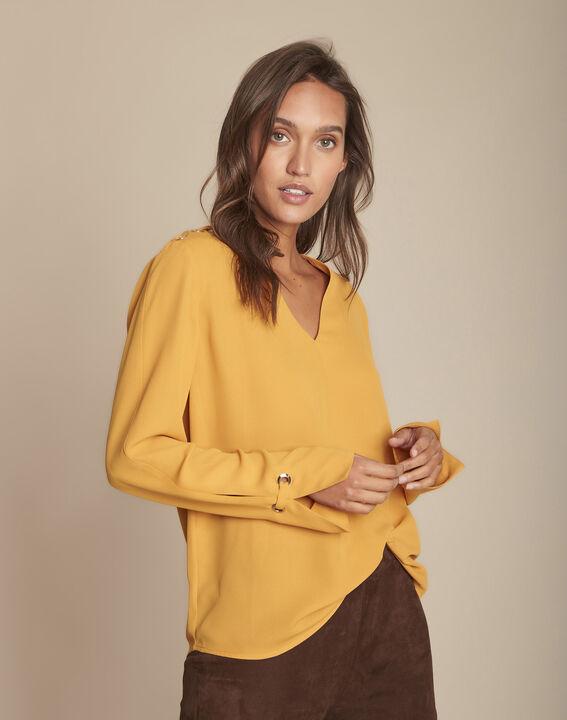Blouse jaune à œillets Melody PhotoZ | 1-2-3