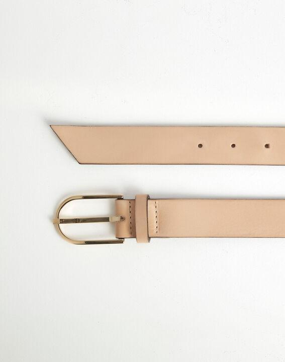Renata beige leather belt PhotoZ | 1-2-3