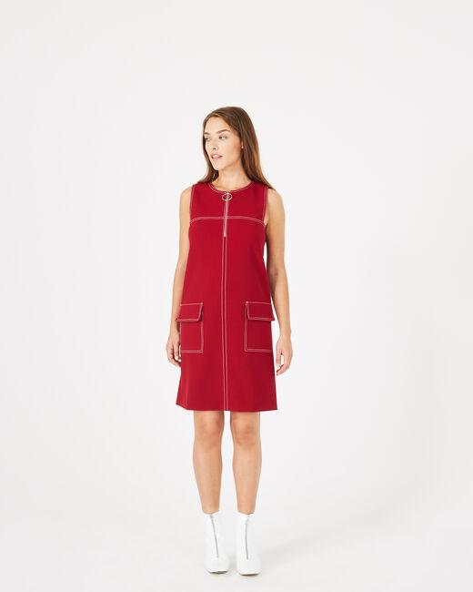 Robe compacte rouge Alix (1) - 1-2-3