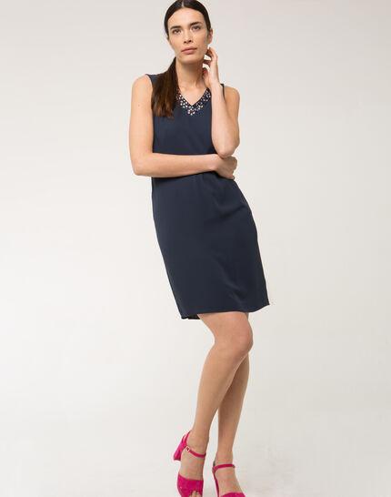 Robe bleue strass sur col Felicie (2) - 1-2-3