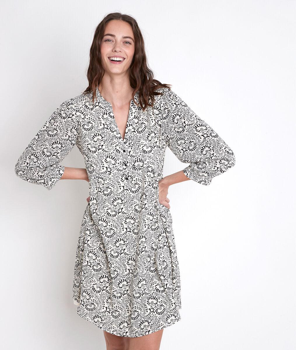 Robe écrue imprimée Calypso PhotoZ | 1-2-3