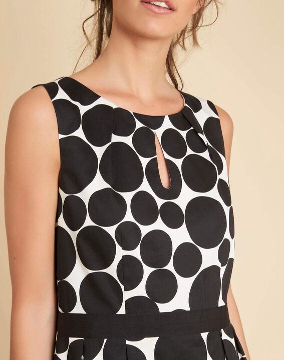 Isis black polka dot printed dress PhotoZ | 1-2-3