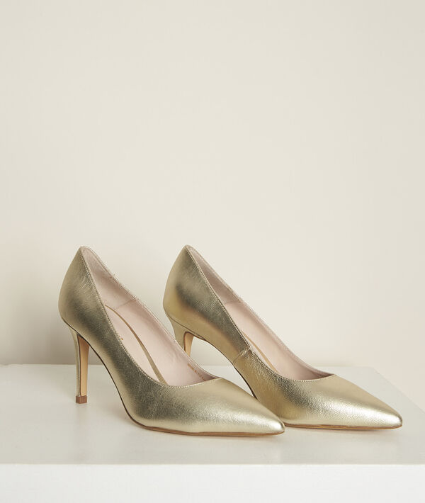 Escarpins en cuir dorés Kelly PhotoZ | 1-2-3