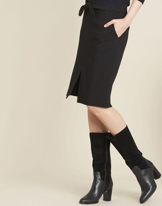 Zwarte rok met strik en split Agathe PhotoZ   1-2-3