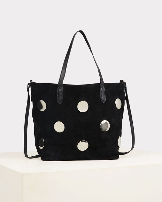 Romane black bag with silvery polka dots (1) - 1-2-3