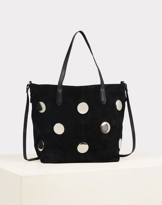 Romane black bag with silvery polka dots (2) - 1-2-3